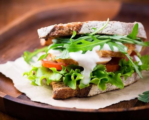 TheCoffee Bean has delicious sandwiches