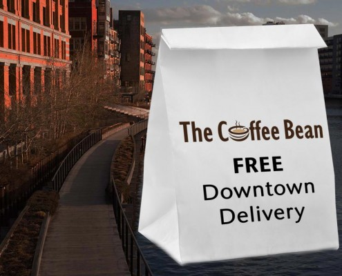 The Coffee Bean provides free downtown lunch delivery.